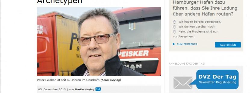 Interview mit Peter Peisker in der Fachzeitung DVZ