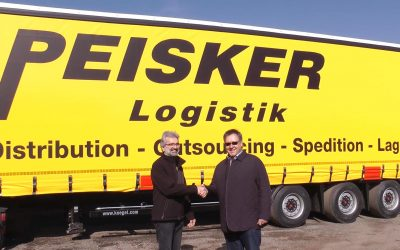 Die Firma Peisker Logistik mit 2 neuen Eurotrailern der Fa. Kögel