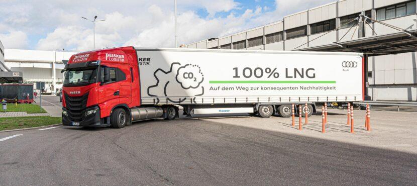 Peisker Logistik setzt LNG-angetriebene Lkws für die Audi AG ein