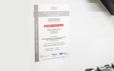 Peisker-Logistik GmbH erneut nach DIN EN ISO 9001:2015 zertifiziert